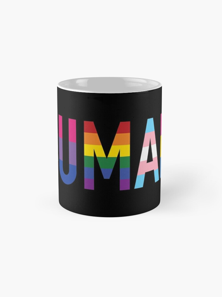 Alternate view of Human, Various Queer Flags 1 Mug