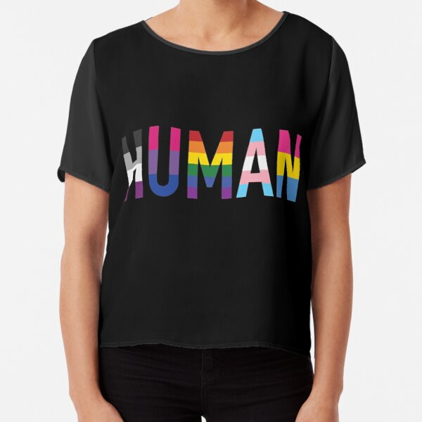 Human, Various Queer Flags 1 Chiffon Top