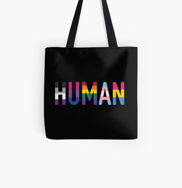 Human, Various Queer Flags 1 All Over Print Tote Bag