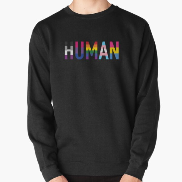 Human, Various Queer Flags 1 Pullover Sweatshirt
