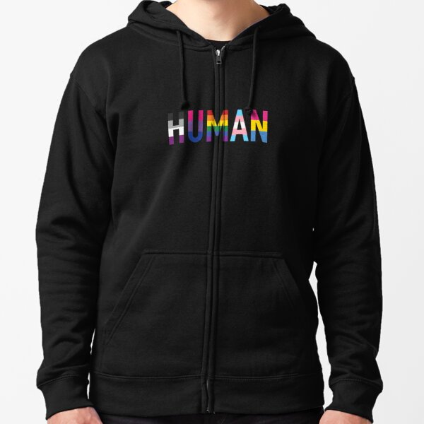Human, Various Queer Flags 1 Zipped Hoodie