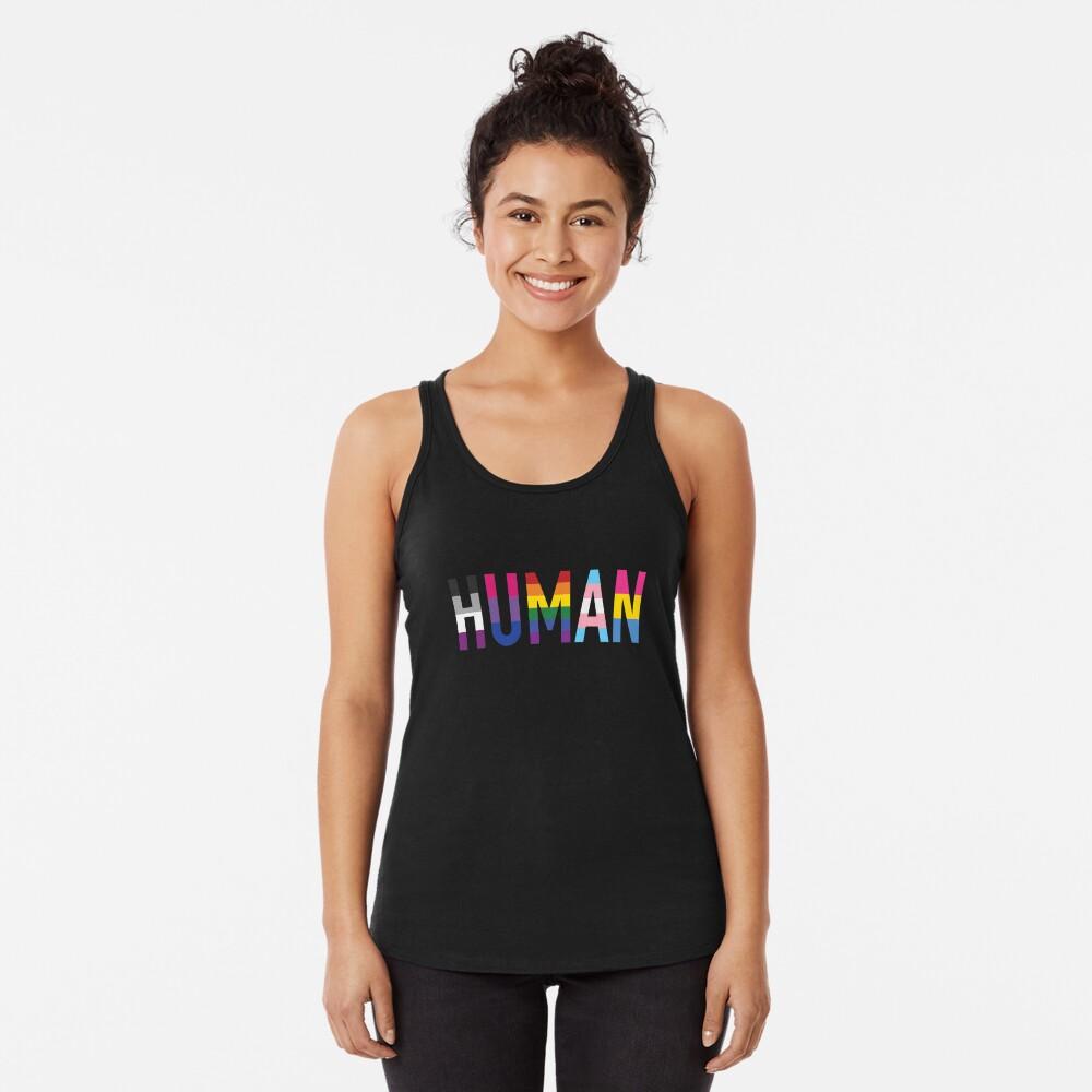 Human, Various Queer Flags 1 Racerback Tank Top