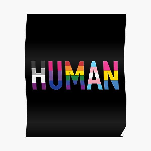 Menschliche, verschiedene Queer Flags 1 Poster