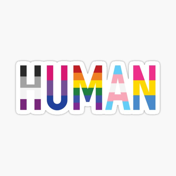 Human, Various Queer Flags 1 Sticker