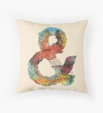 Psychedelic Ampersand Throw Pillow