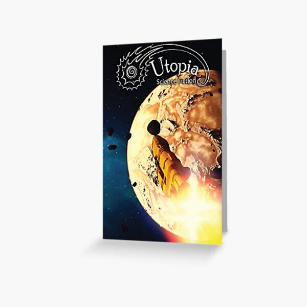 August Issue, Utopia Science Fiction Greeting Card