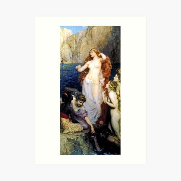 The Pearls of Aphrodite - Herbert James Draper Art Print