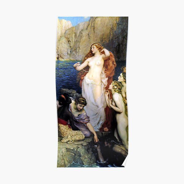 The Pearls of Aphrodite - Herbert James Draper Poster