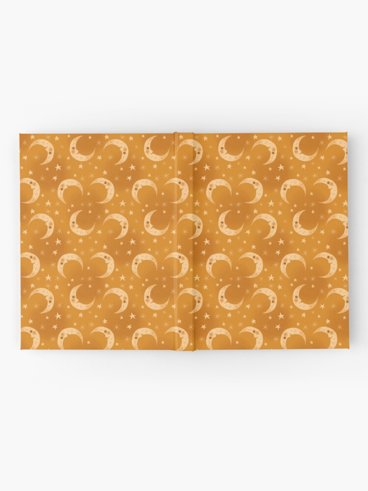 Alternate view of Yellow Moons and Stars Hardcover Journal