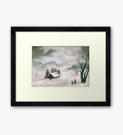 Another Frosty Winter Morn Framed Print