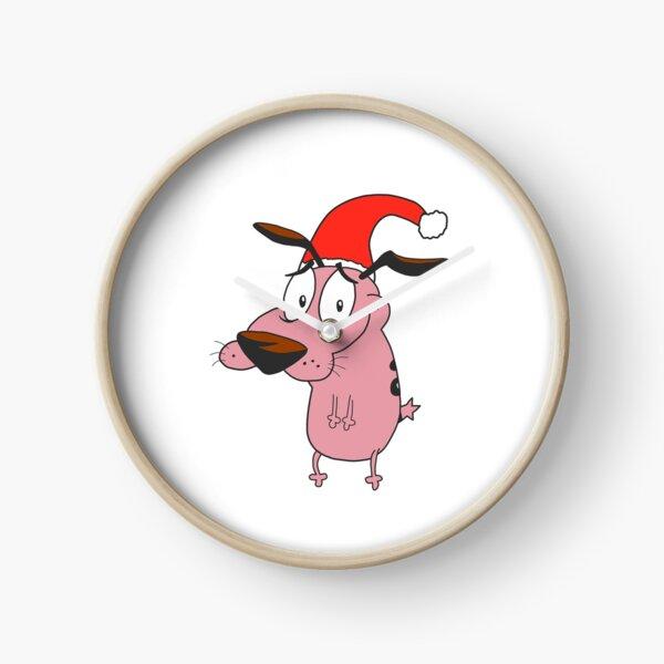 Courage Le Chien Lâche Père Noël Horloge