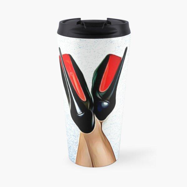 Christian Louboutin Sexy High Heel Red Bottoms Heels Up Travel Mug