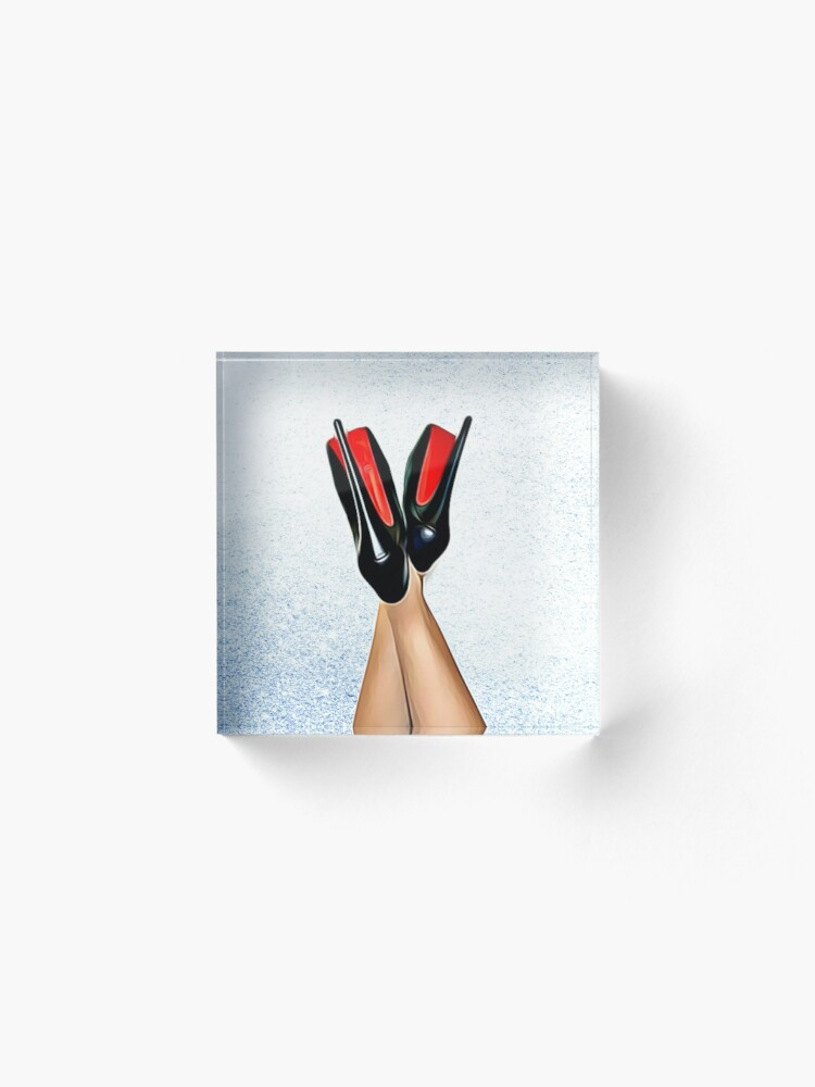 Alternate view of Christian Louboutin Sexy High Heel Red Bottoms Heels Up Acrylic Block