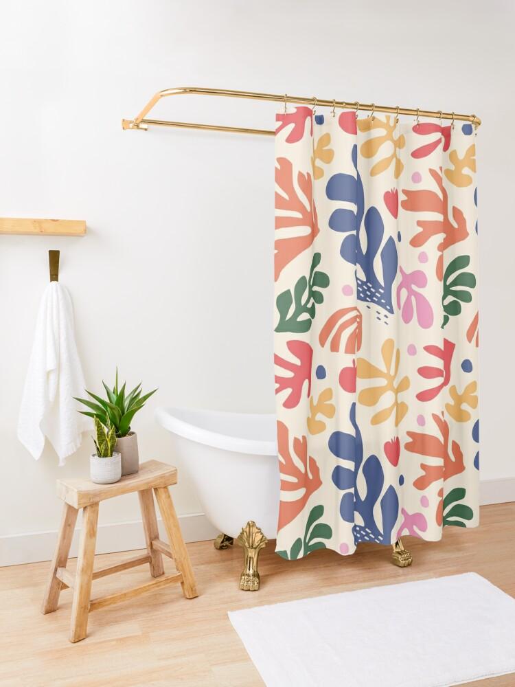 Alternate view of Matisse Flowers Art Shower Curtain