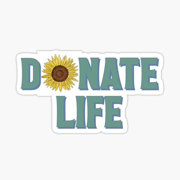 Donate Life Sunflower Sticker