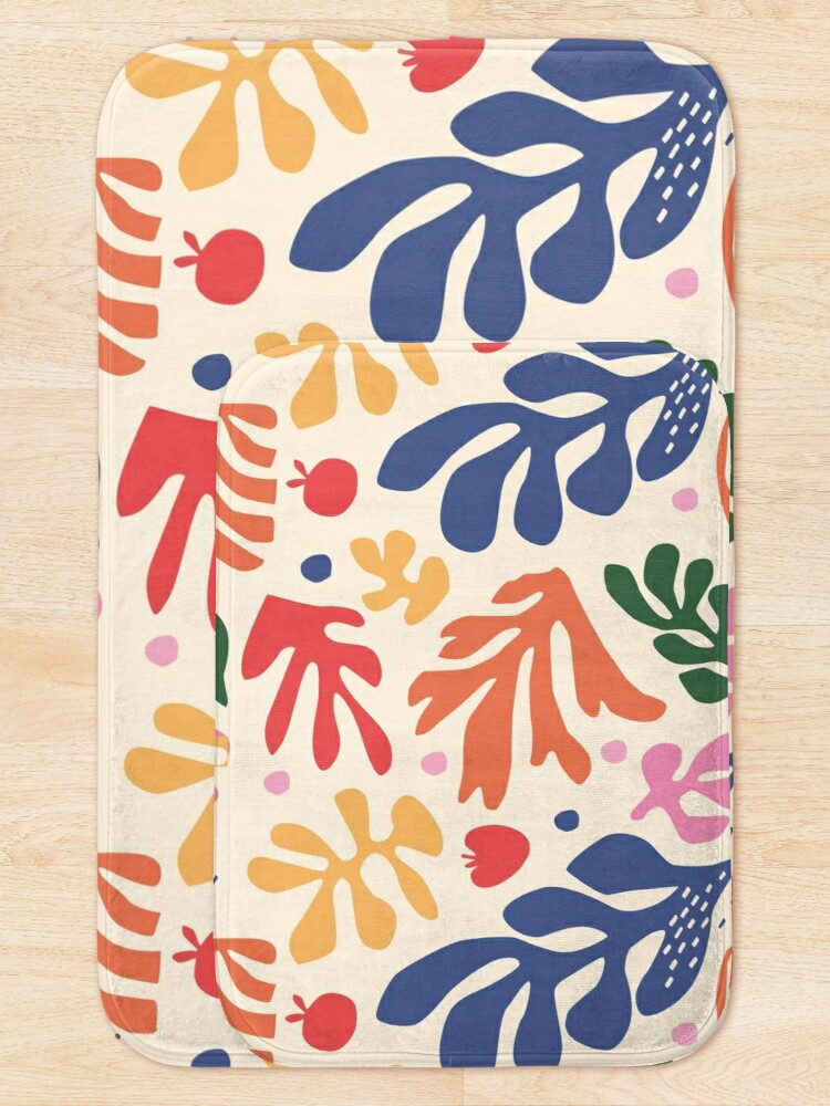 Alternate view of Matisse Flowers Art Bath Mat