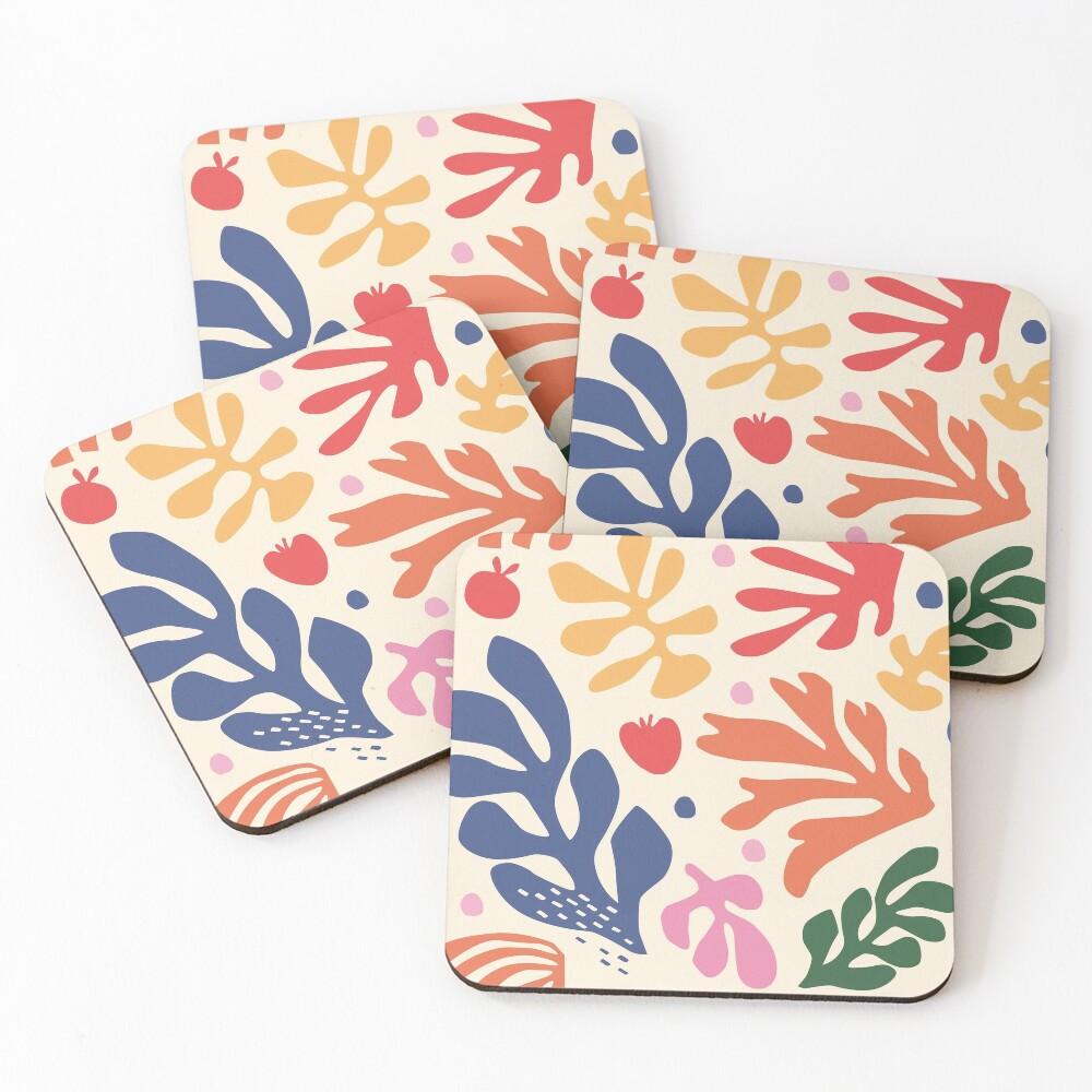 Matisse Flowers Art Coasters (Set of 4)