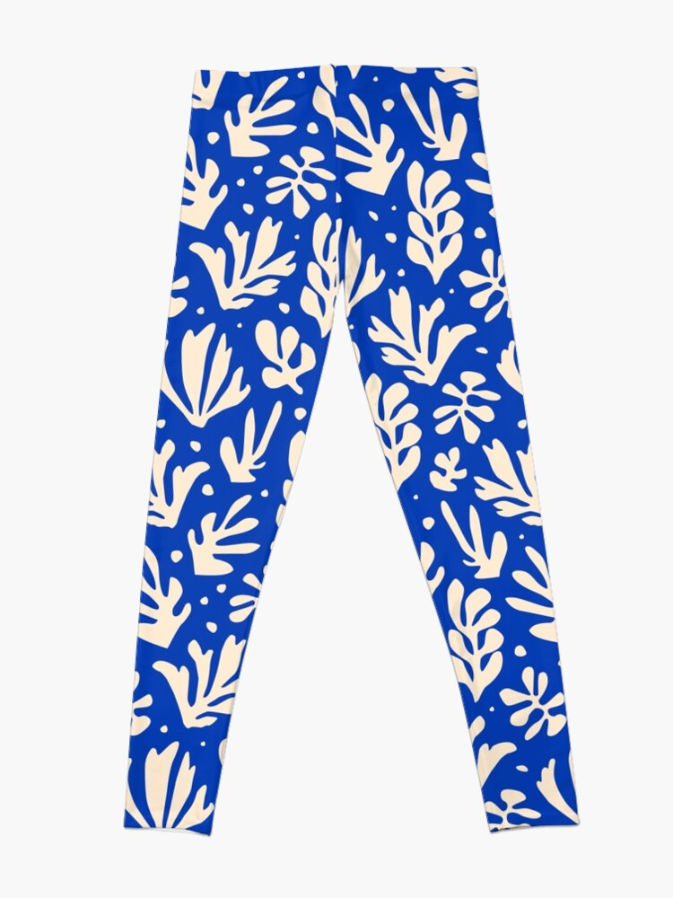Alternate view of Leaves Pattern Plants Inspired by Henri Matisse Leggings