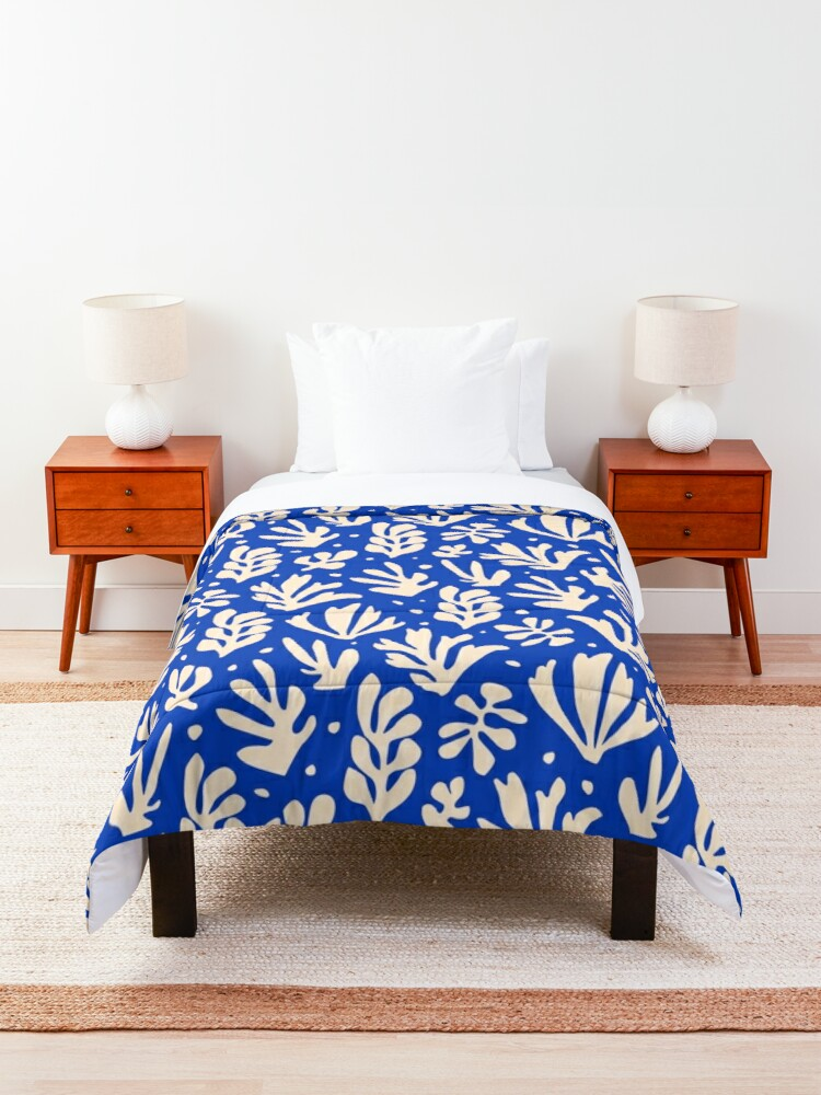 Alternate view of Leaves Pattern Plants Inspired by Henri Matisse Comforter