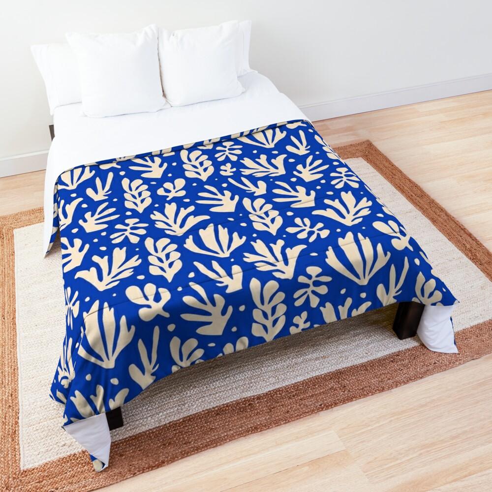 Leaves Pattern Plants Inspired by Henri Matisse Comforter