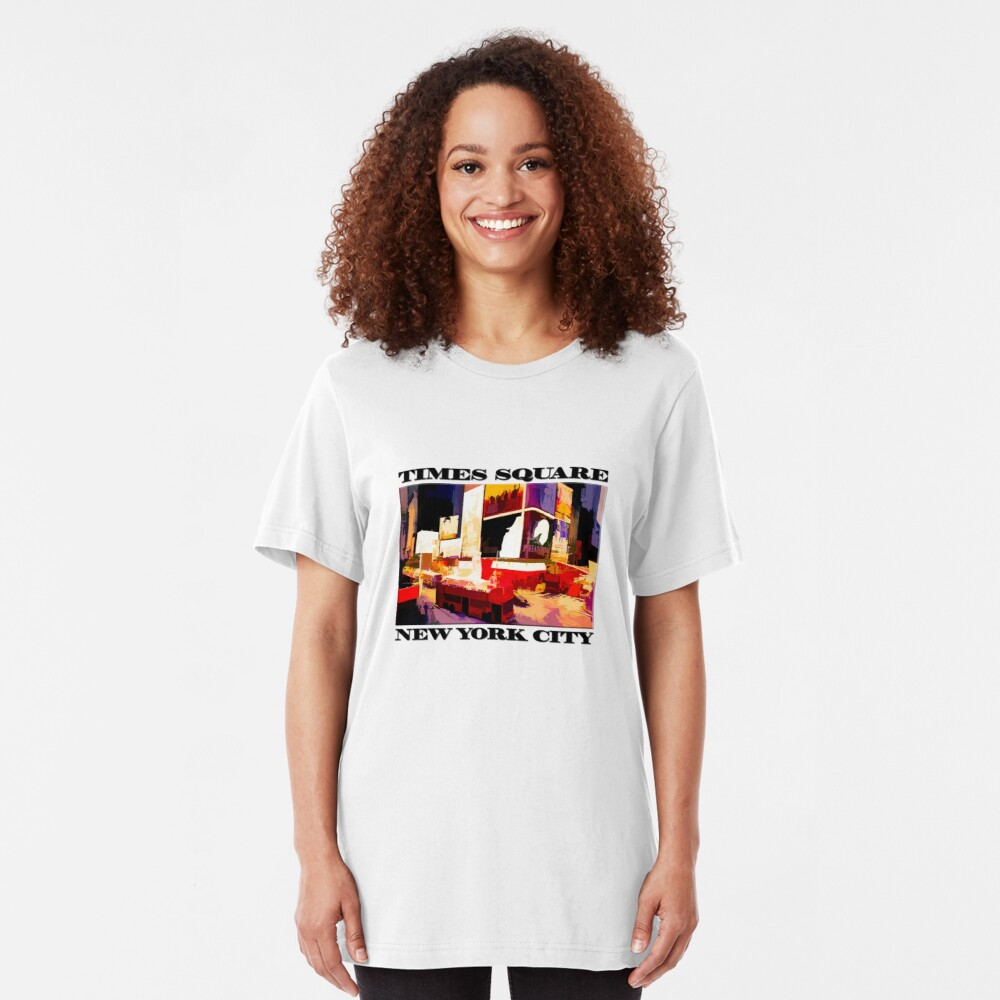 Times Square II (abstract colour print) Slim Fit T-Shirt