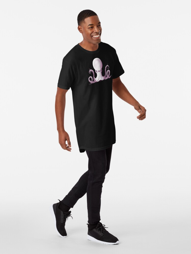 Alternate view of Ghostly Octopus Long T-Shirt