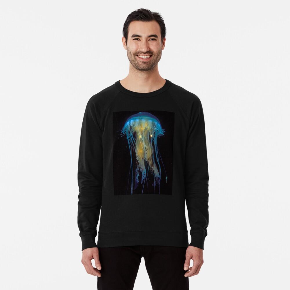 Juvenile Jelly on Black Lightweight Sweatshirt