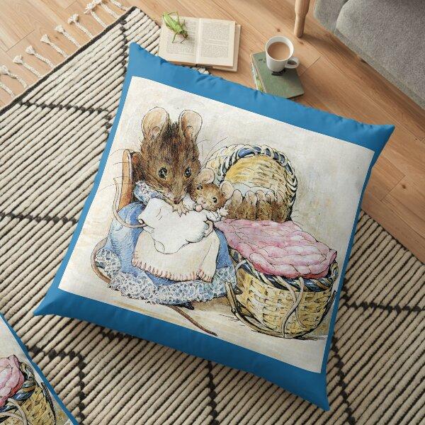 Hunca Munca and her Babies - Tale of Two Bad Mice - Beatrix Potter Floor Pillow