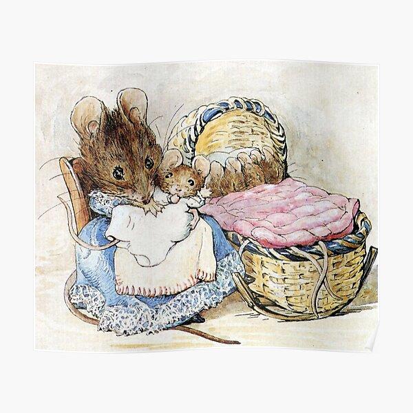 Hunca Munca et ses bébés - Conte de deux mauvaises souris - Beatrix Potter Poster