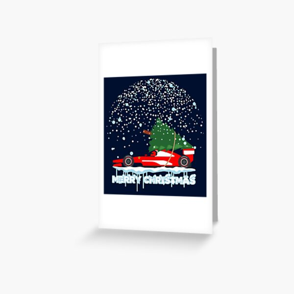 RED F1 CHRISTMAS Greeting Card