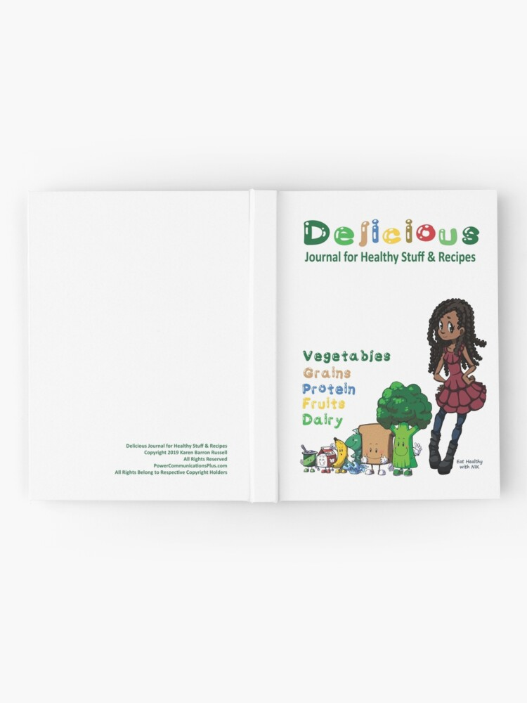 Alternate view of Delicious Journal For Healthy Stuff and Recipes Hardcover Journal