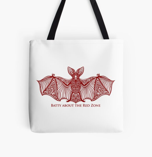 Batty about the red zone All Over Print Tote Bag