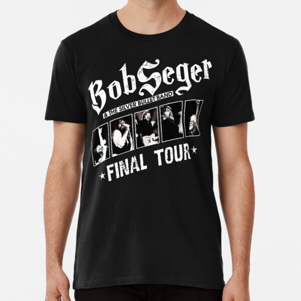 Unisex Tee Top Mens Guitar Rock n Roll Silver Bullet Band BOB SEGER T-SHIRT