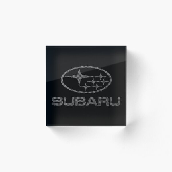 SUBARU-CARBON FIBER Acrylic Block
