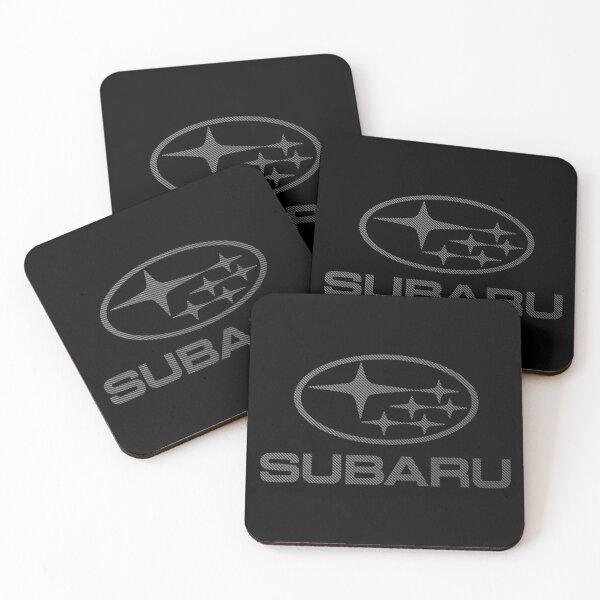 SUBARU-CARBON FIBER Coasters (Set of 4)