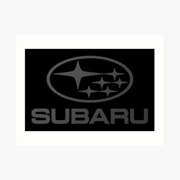 SUBARU-CARBON FIBER Art Print