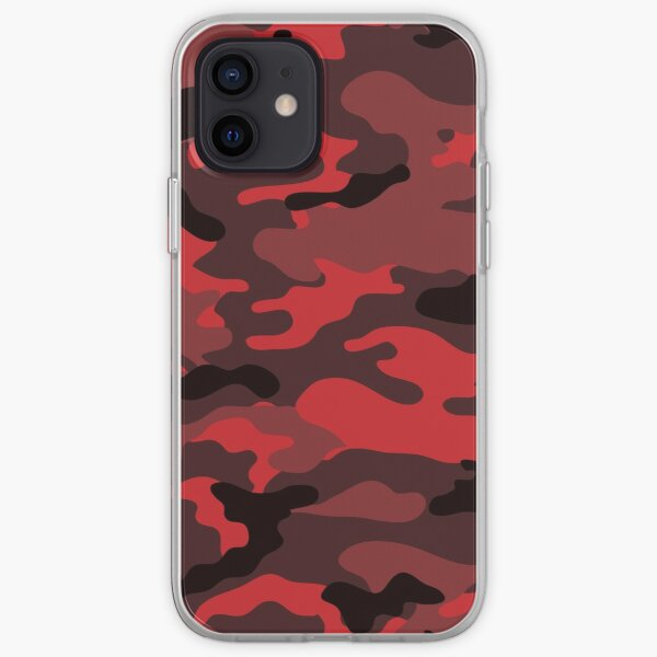 Red Camo iPhone Soft Case