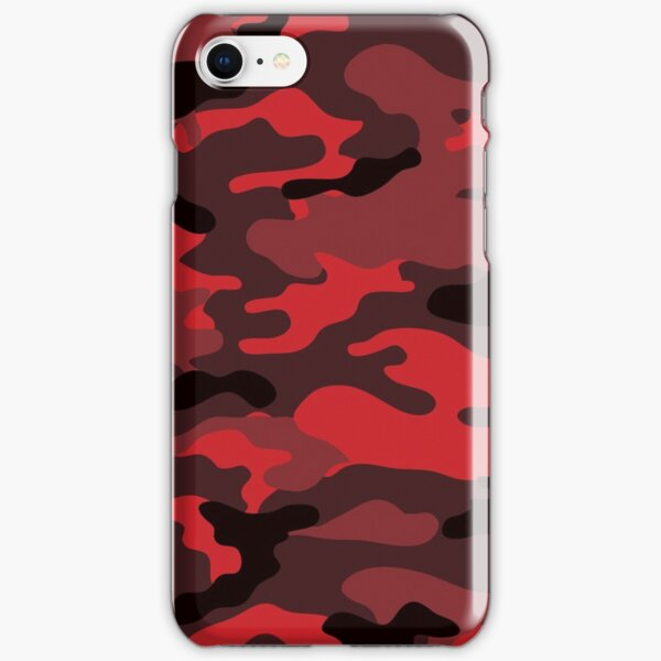 Red Camo iPhone Snap Case