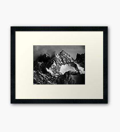 La Roche Méane, la Grande Ruine et le Pic Bourcet Framed Print
