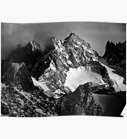 La Roche Méane, la Grande Ruine et le Pic Bourcet Poster