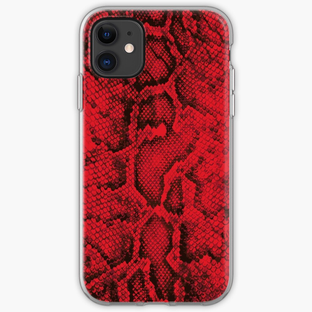 Red Snakeskin  iPhone Case & Cover