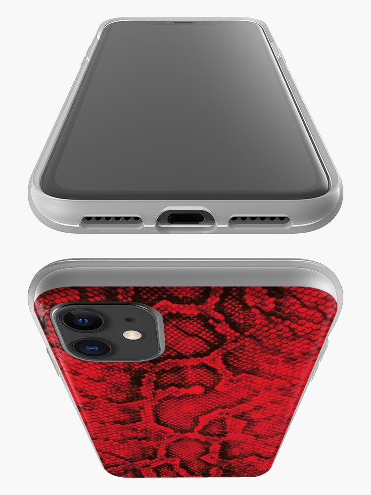 Alternate view of Red Snakeskin  iPhone Case & Cover