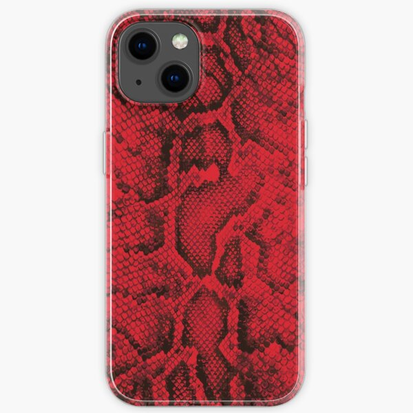 Red Snakeskin  iPhone Soft Case
