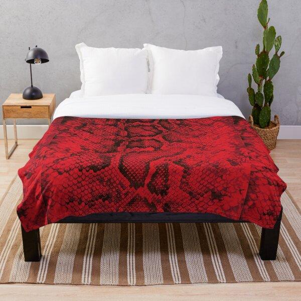 Red Snakeskin  Throw Blanket