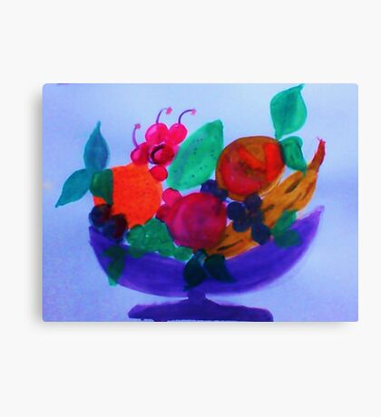 Fruit Bowl, watercolor Canvas Print