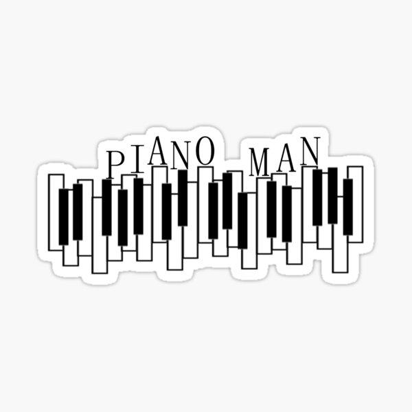 Piano Man funky piano Sticker