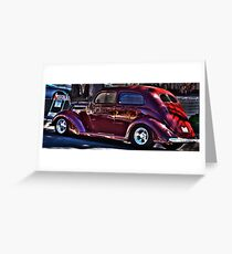 Dick Tracy Car Greeting Card