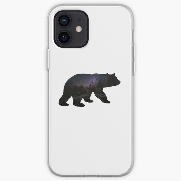 Bear with starry sky iPhone Soft Case