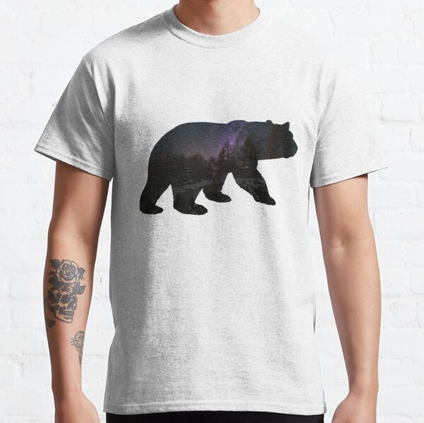 Bear with starry sky Classic T-Shirt