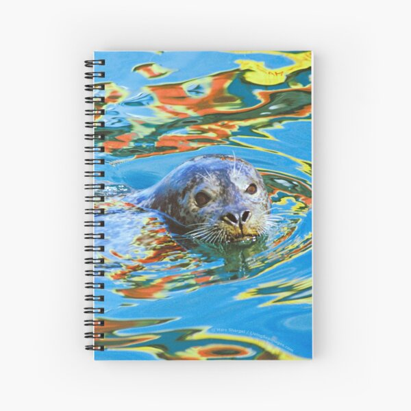 Harbor Seal in reflected color Spiral Notebook